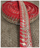 lace trim fabric garment trims and accessories wholesale suppliers Red, Embroidery, Mirror, 2 Inch Wide material Cotton Mix