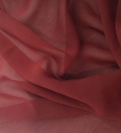 Maroon Viscose Georgette Solid Fabric