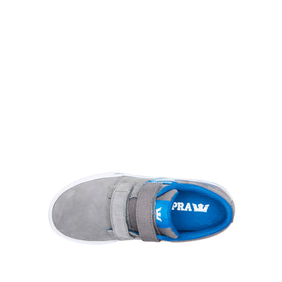 58334-080-M | KIDS STACKS II VULC VELCRO | GREY/BLUE FLAME-WHITE