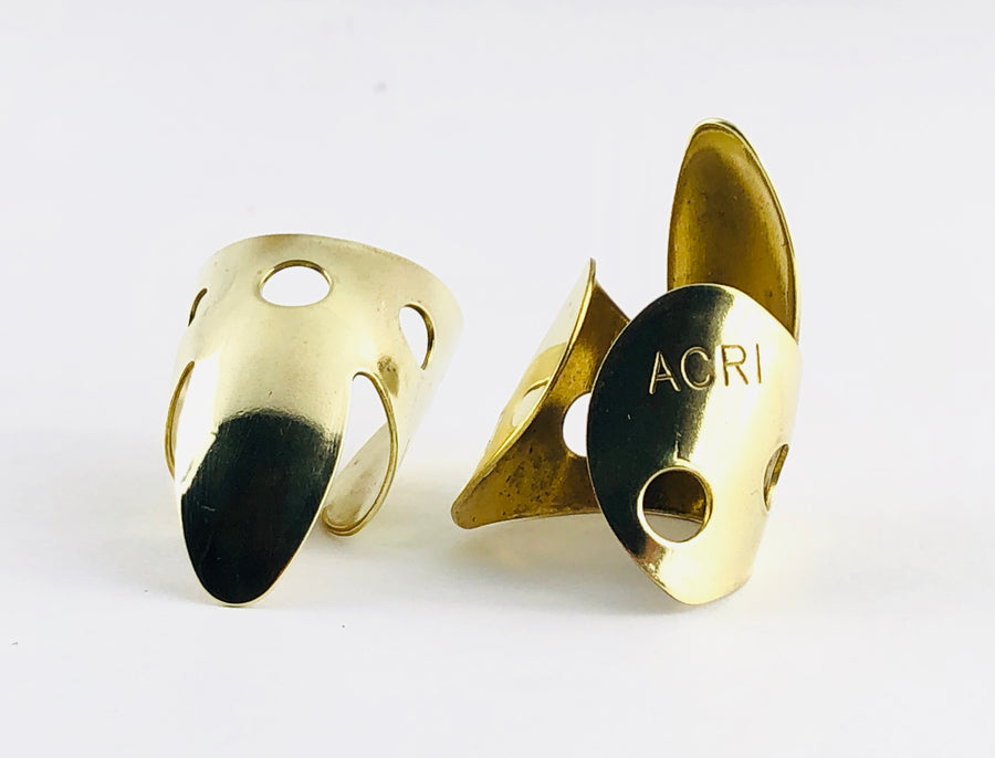 Acri Picks - Large Brass Fingerpicks (Pair)