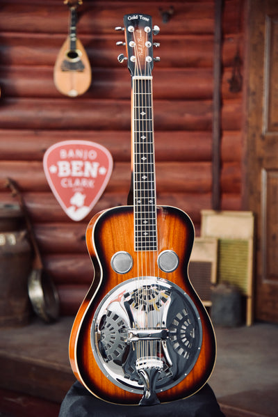 Gold Tone PBS-M Solid Mahogany Square Neck Resonator Guitar With Case
