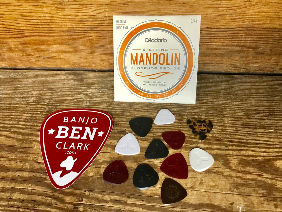Basic Mandolin Pickers Gift Bundle - Strings and Picks