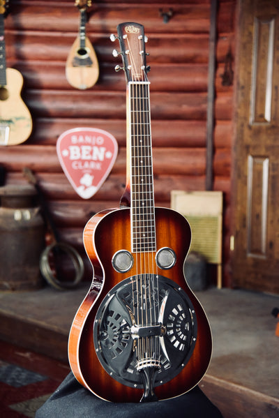 """RQ Jones"" Retrofit Square Neck Resonator Guitar with Case"
