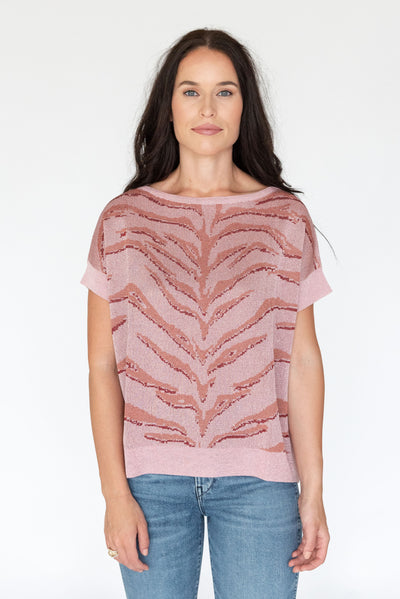 Tiger Tunic Flamingo