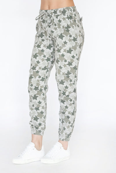 Star Camo Jogger Green Tea