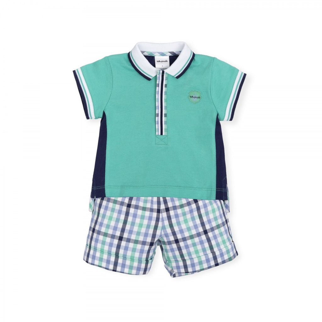 Tutto Piccolo Mint Green Polo and Short Set