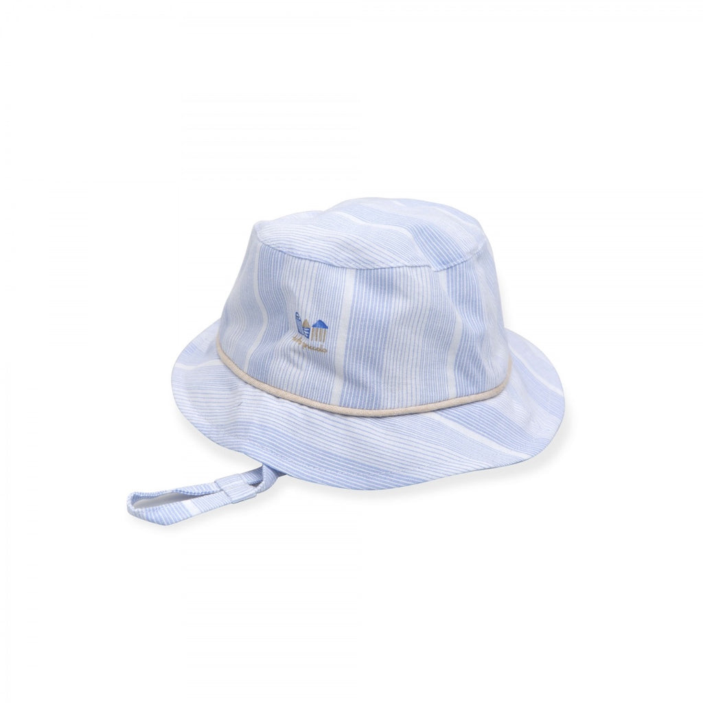 Tutto Piccolo Blue Striped House Print Hat