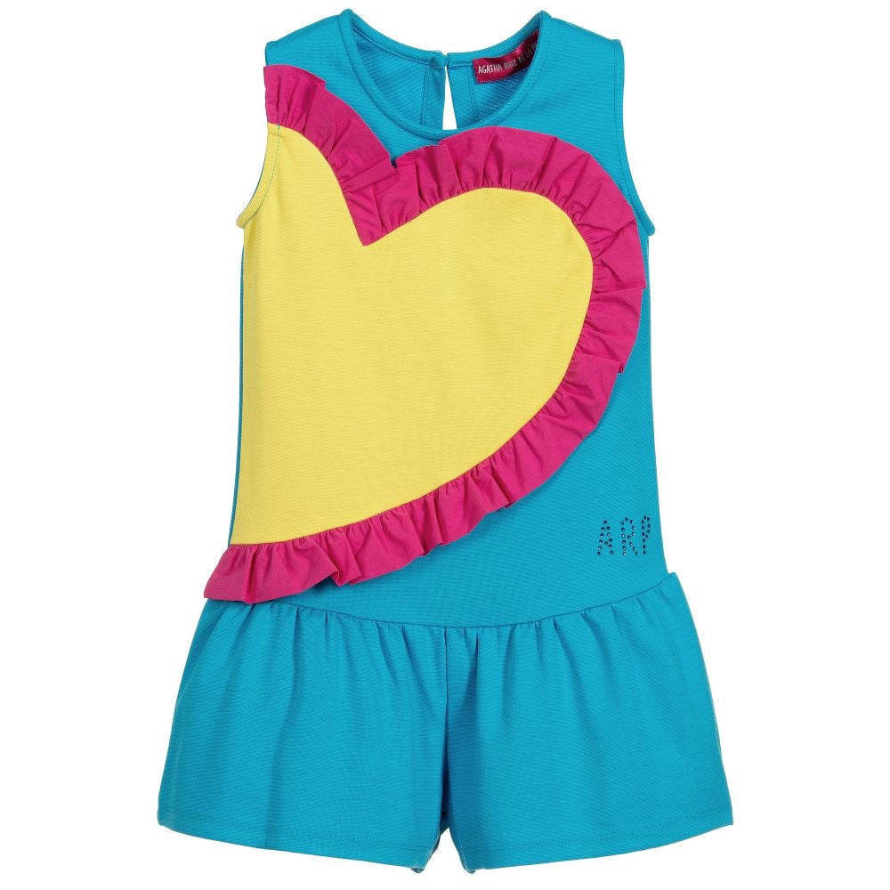 Agatha Blue Heart Playsuit