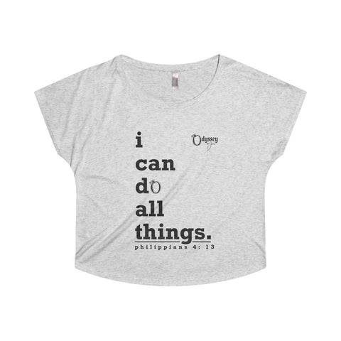 Odyssey I Can Do All Things Women's Off The Shoulder Tee