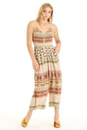 Boho Cream Jumpsuit