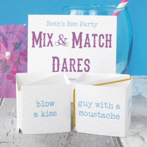 Hen Party Mix and Match Dares