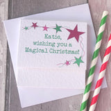 Personalised Magical Unicorn Christmas Card