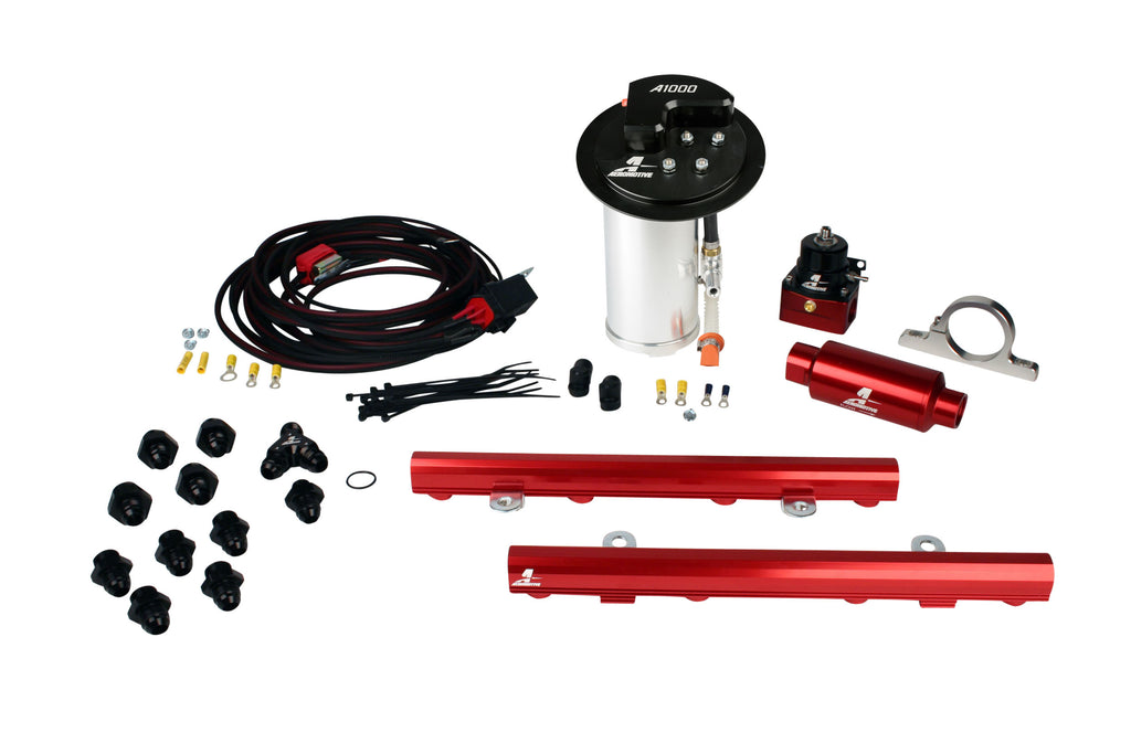 Aeromotive - 10-17 Mustang GT Stealth A1000 Race Fuel System with 5.0L 4-V Fuel Rails (17324)