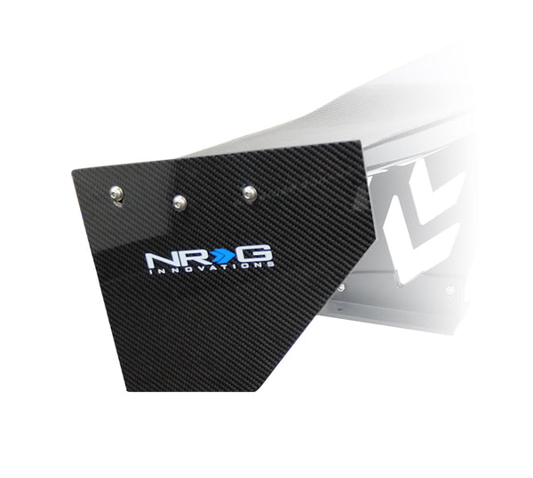 NRG - CARBON FIBER END PLATES ONLY LARGE (2 PCS)
