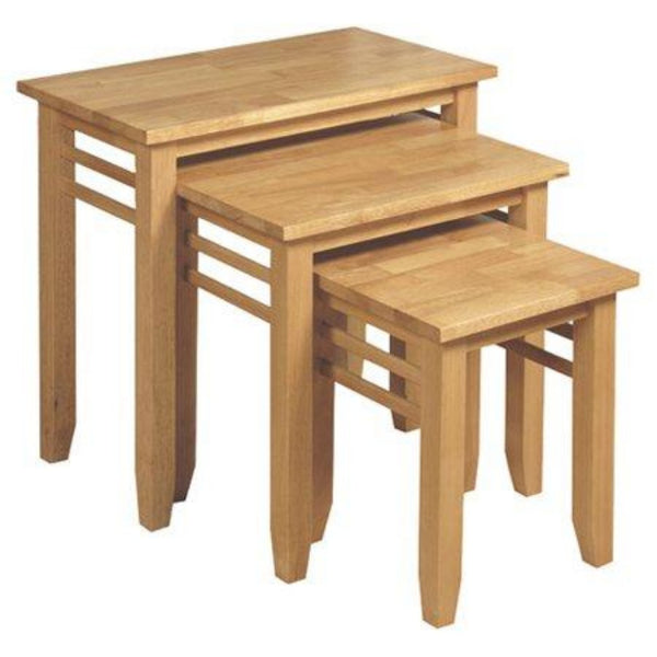 Remo 3 Piece Nest of Tables - Light Oak