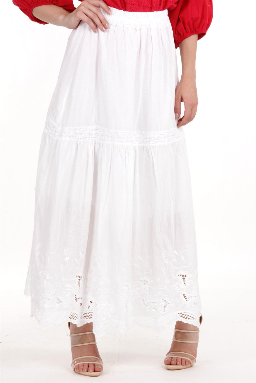 White Lace Maxi Skirt II