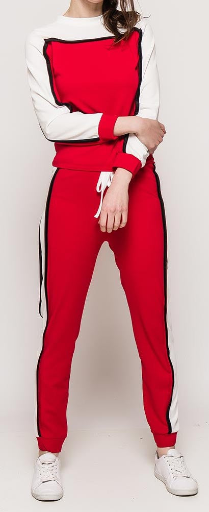Red and White Pant