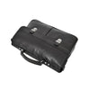 Mens Leather Briefcase Cross Body Satchel Bag Clinton Black top