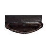 Mens Leather Briefcase Cross Body Satchel Bag Clinton Black inside