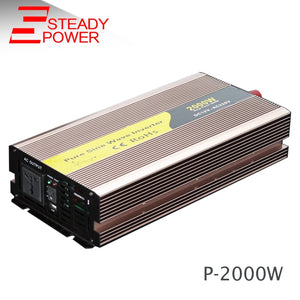 DC to AC converter 2000 watt 24v 220v pure sine wave inverter  car power inverter for  solar power system