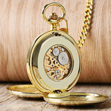 High Quality Luxury Smooth Roman Numerals Vintage Mechanical Chain Gift FOB Steampunk Hand Wind Casual Men Women Pocket Watches