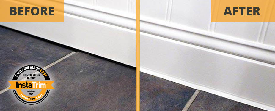 InstaTrim, before and after baseboards