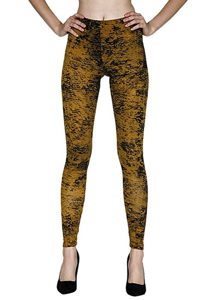 Edgy Graphic Print Leggings