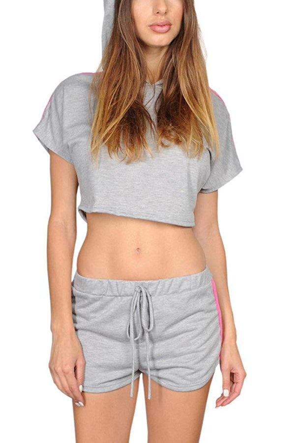 Two Piece Shorts and Crop Top Set
