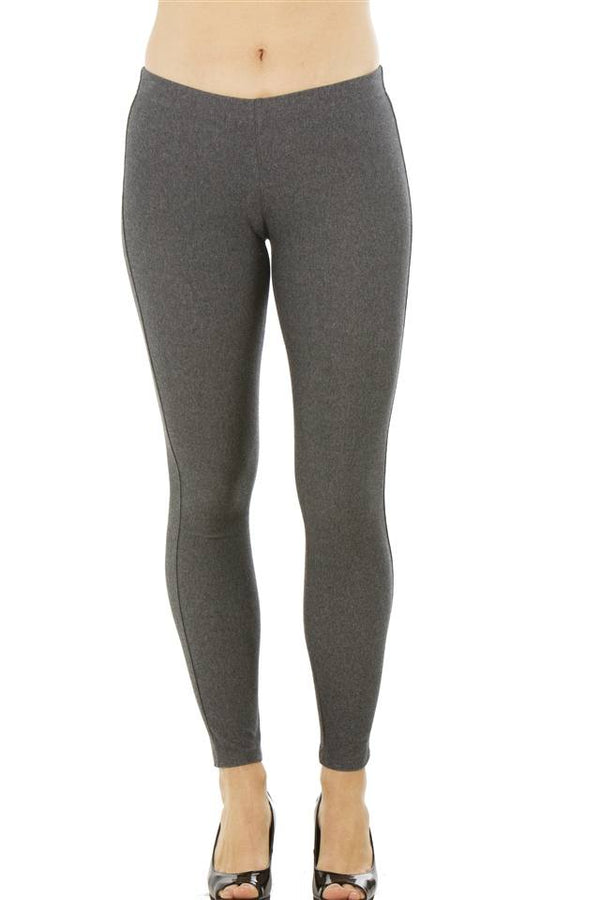 Stretchy Cotton Blend Leggings in Charcoal