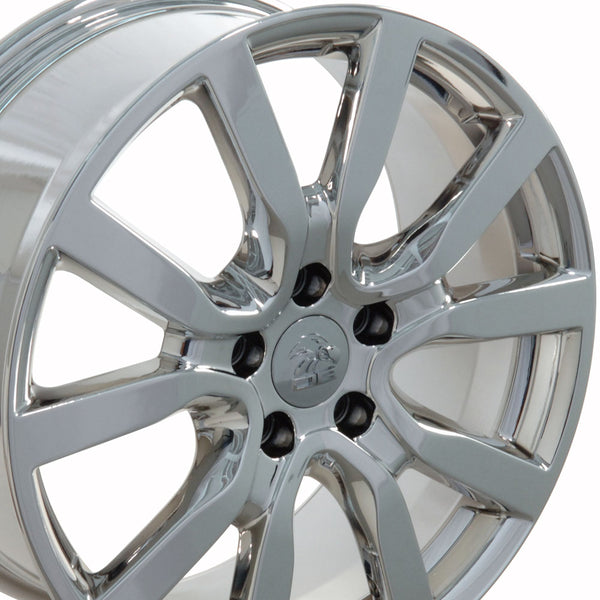 "18"" Fits VW Volkswagen - Golf Style Replica Wheel - PVD Chrome 18x7.5 