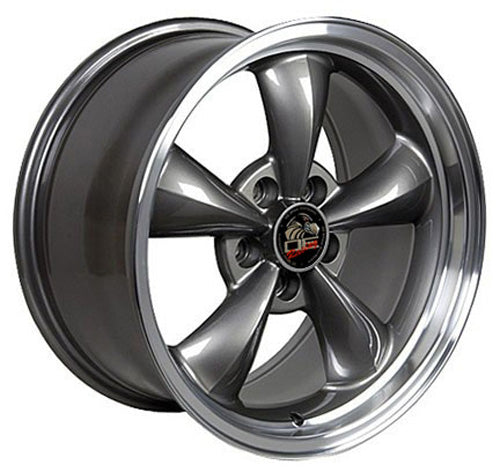 "17"" Fits Ford - Mustang Bullitt Wheel - Anthracite Machined Lip 17x9 