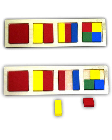 Wooden Square Shapes Block Board