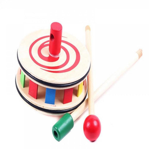 Wooden Push and Pull Toy-Rainbow Circle
