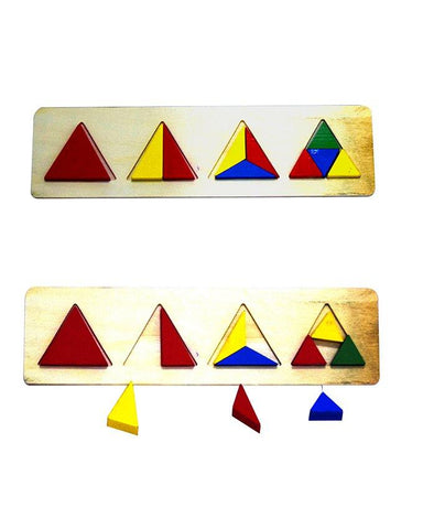Wooden Triangle Shapes Block Board