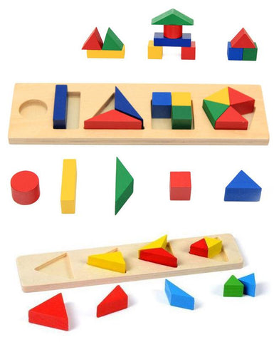 Wooden Montessori Teaching Aids 14PCS Set Educational Toy