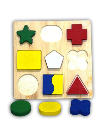 Wooden Shapes Small Block Board