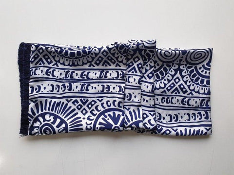 Blue Orchard Silk Scarf