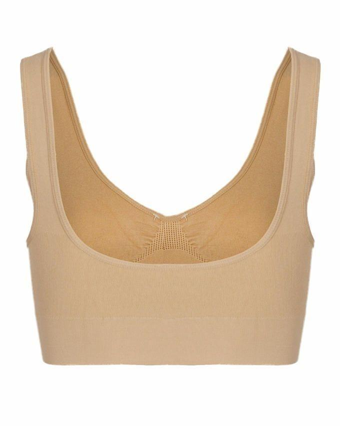 Beige Cotton Air Bra For Women