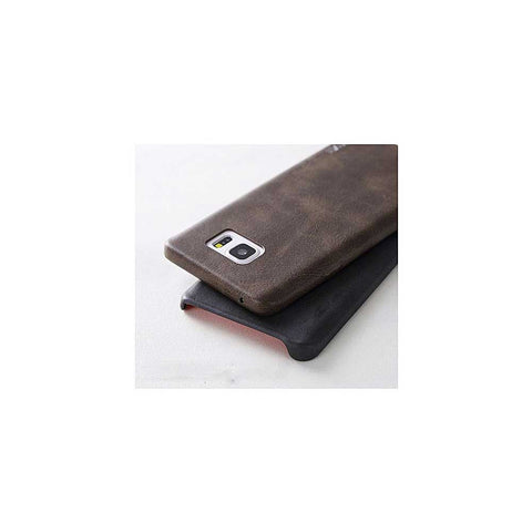 HKT Hd Leather Case For Samsung S6 Edge - Brown