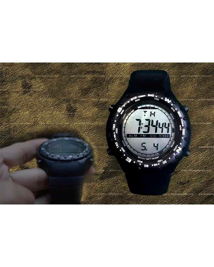 Black Digital Stylish Watch For Men. WS-310