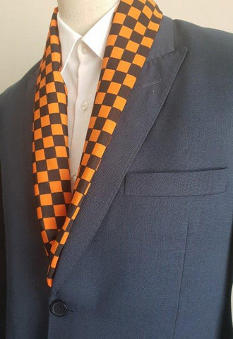 Black & Orange Boxed Scarf