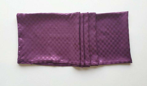 Plum Solid Boxed Scarf
