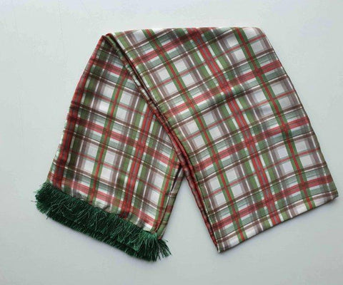Red & Green Checkered Scarf