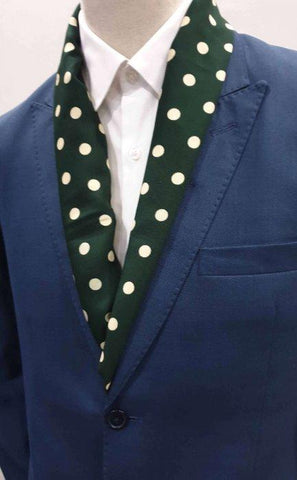 Royal Green Polka Dots Scarf