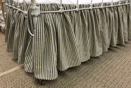 Ticking Stripe Gathered Crib Skirt