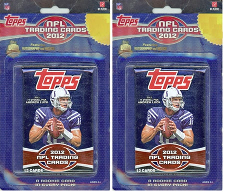 2012 Topps *Blister* Football Trading Cards Unopened Sealed Blister Pack-1 Pack