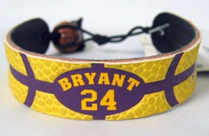Kobe Bryant - Los Angeles Lakers - Team Color Basketball Bracelet
