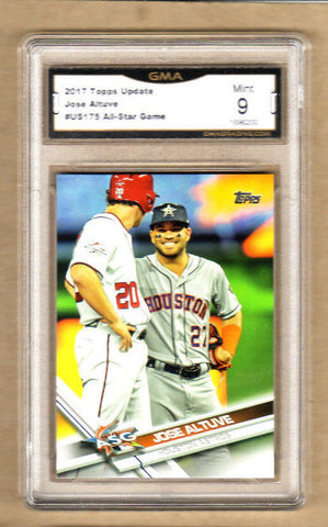 Jose Altuve - 2017 Topps Update All-Star Game Card-Graded-#175-Astros-9/10 Mint