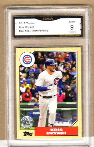 Kris Bryant - 2017 Topps 1987 30th Anniversary Card - Graded-#20-Cubs-9/10 Mint