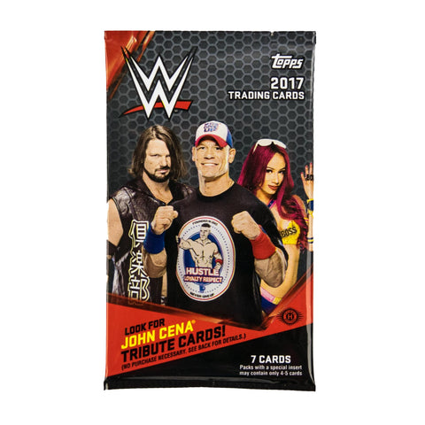 1 Pack - 2017 Topps WWE-Unopened Sealed-7 Cards Per Pack-Hobby Edition